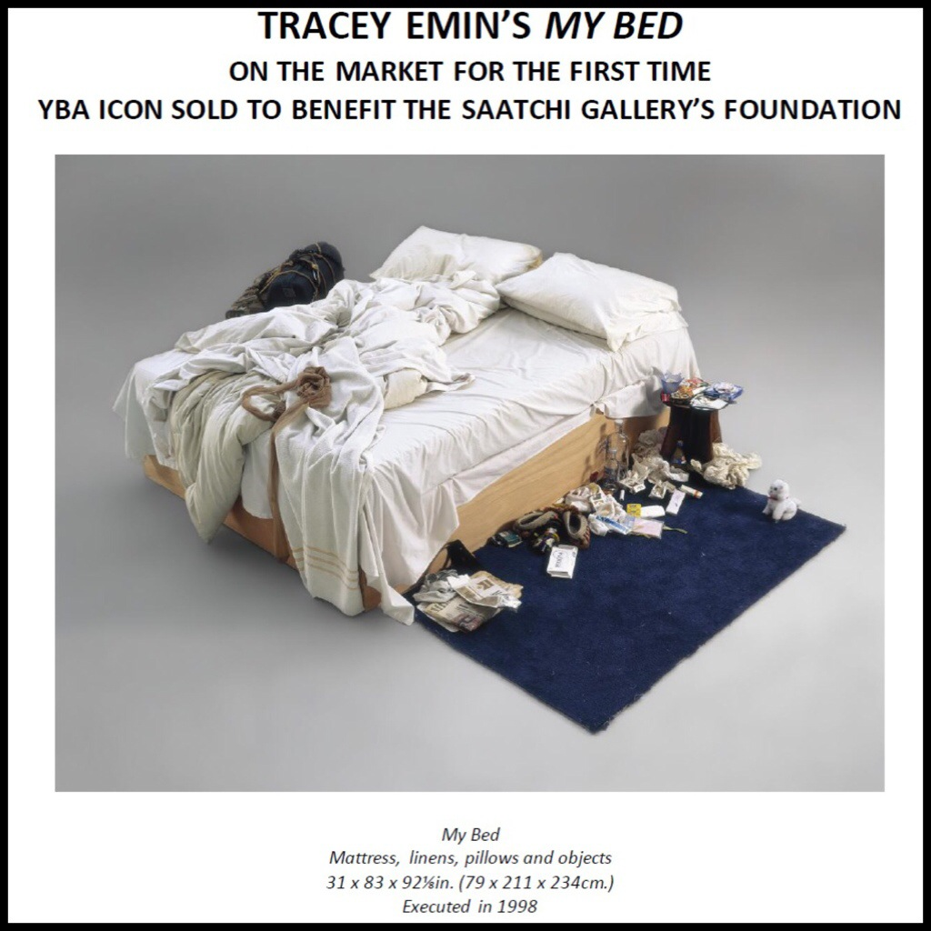 TRACEY EMIN'S MY BED ON THE MARKET