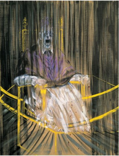 Study after Velazquez's Portrait of Pope Innocent X 1953 - courtesy of tate.org.uk