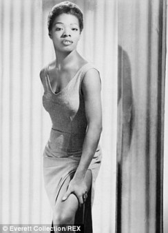 Maya Angelou 1957 - courtesy of www.dailymail.co.uk